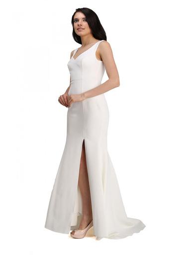 Pierre Cardin Uzun Abiye Elbise Ekru